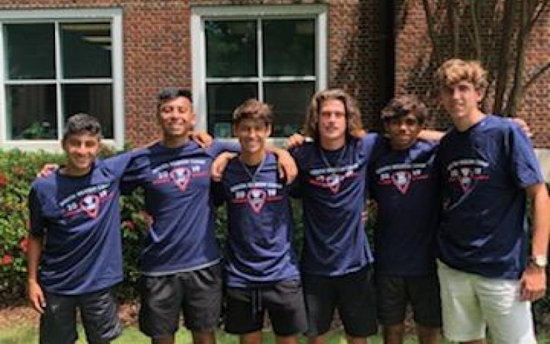 Photo submitted — Lincoln Zemaitis, on the far right, poses for a photo with teammates from the Georgia Oplympic Development Program.