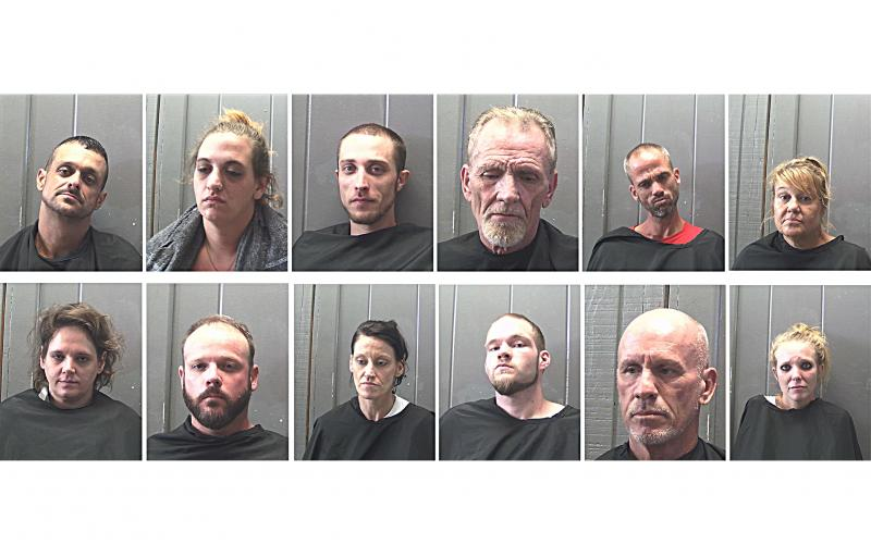Pictured from left to right, top row, are Allan James Goodman, Amber Lee Burton, Andrew James Parten, Charles Michael Seawright, Charles William Smith and Elizabeth Ann Barley. On the bottom row are Heather Lee Hill, Joseph Michael O'Barr, Taletha Renee Jones, David Allan Lee Latty, David Ray McCormick and Tatsianna Peeples.