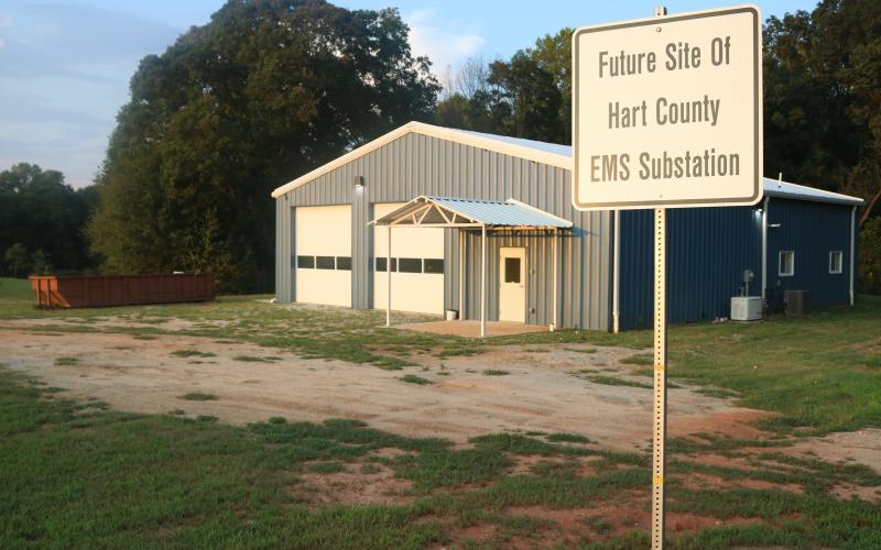 Sunshot by Grayson Williams — The Crossroads EMS substation on Lavonia Highway is nearing completion after months of not being used, officials said.