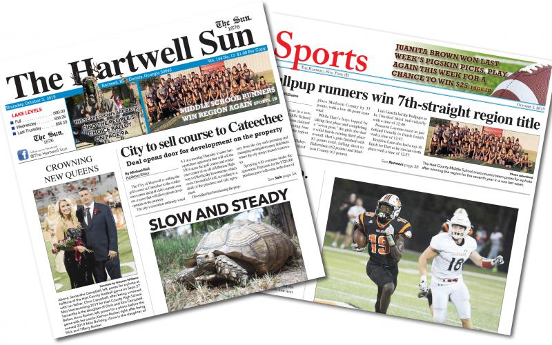 The Oct. 3 edition of The Hartwell Sun is available now.