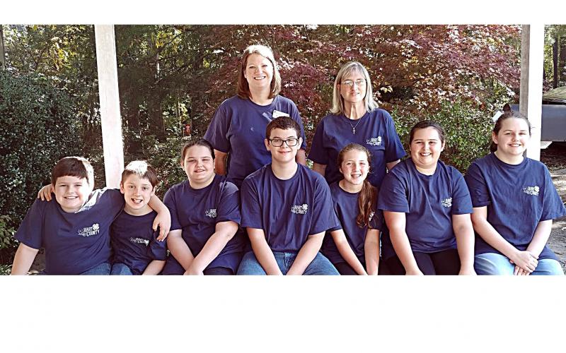 Pictured from left to right in the front row are Zeb Brister, Alex McBride, Katie Moon, Kaleb Waddell, Mary Beth White, Emma Shiflet and Lily Moon. On the back row are Michelle McClain and Amy Burns.
