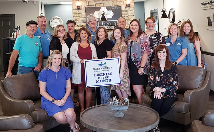 Pictured from left to right are, Ray Stowers, Kevin McCraney, Kim Little, April Chapman, Ganine Derleth, Brandy Floyd, Larry Torrence, Leslie Patrick, Candace Tomlin, Jerry McHan, Jessica Herring, Tiffany Rucker,  Laura Williams, Nikki Peters and Christine Blomberg.
