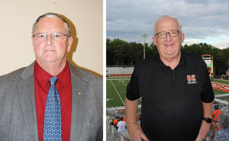 "Bill Griggs, left — Stephen ""Doc"" Ayers, right"