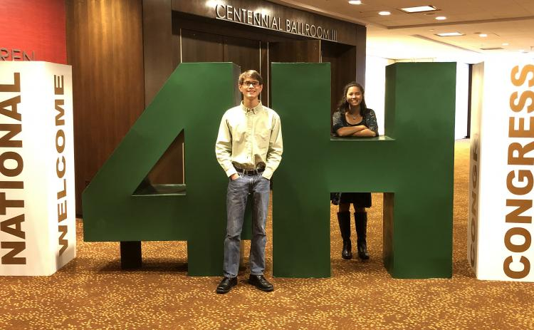 Photo submitted — Ben Tellano, left, and Rachel Tellano, right, of Hart County 4-H, recently attended the 4-H National Congress in Atlanta.
