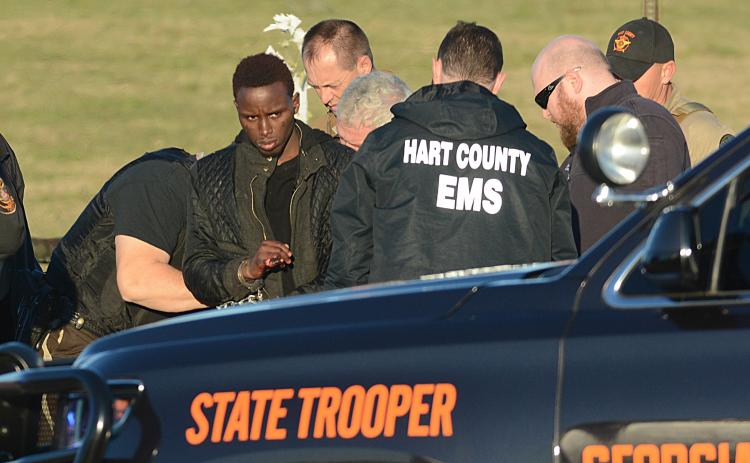 Photo from file — Larrendrick Tabor, 26, is arrested by Hart County Deputies on Jan. 28.