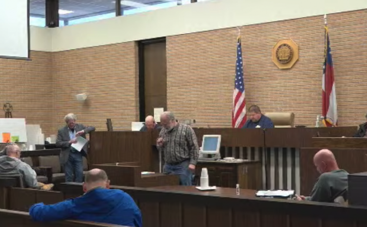 Hart County commissioners, the Hartwell City Council and other local officials say the invocation at the Hart County Courthouse on Tuesday during an emergency called meeting to make a local emergency declaration.