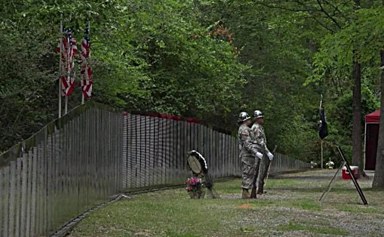 Photo submitted from Facebook — The Traveling Vietnam Memorial Wall is shown at a previous stop in Jackson, Miss., in 2018.