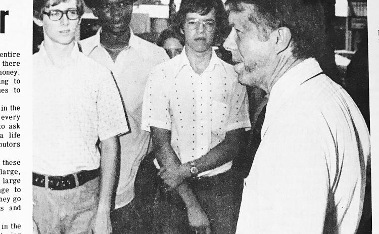 Then Gov. Jimmy Carter, right, is pictured in The Sun in September of 1973.