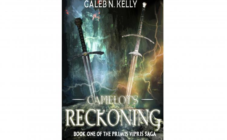"The cover of ""Camelot's Reckoning"" is shown."