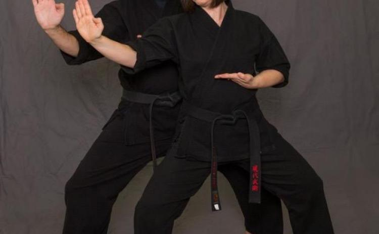 Photo submited/Stephanie Crump photography Chuck and Caroline Cawthon illustrate martial arts movements in a photo.